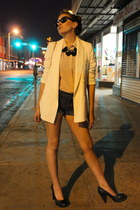 black Express necklace - white Silence & Noise blazer - nude Gap shirt