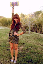 dark brown leopard print Rodarte for Target dress - brown Forever 21 blazer