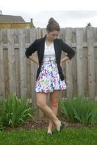 black Wear House One blazer - vintage skirt - vintage shoes - Hanes shirt