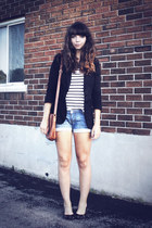 black Value Village blazer - brown leather thrifted purse