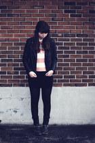 black Aldo boots - black H&M skirt