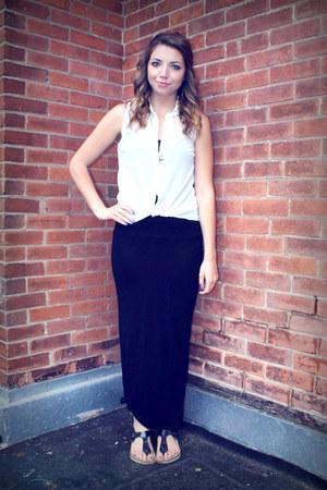 white Stitches shirt - black H&M skirt