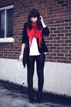 black leather H&M pants