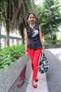 Red-zara-jeans-navy-flowered-prints-kate-spade-bag-red-aldo-flats