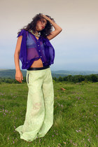 lime green palazzo GEEKS & STITCHES pants