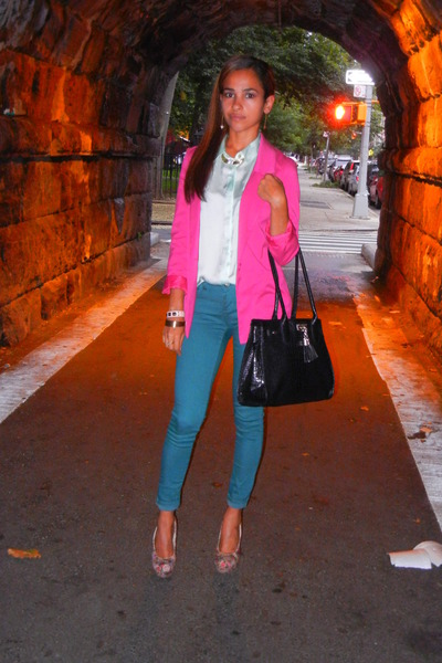 Hot Pink H&m Blazer Lime