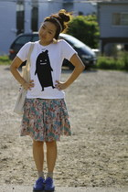 onitsuka tiger shoes - Graniph t-shirt - accessories - skirt