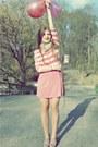 Lime-green-h-m-scarf-pink-zara-skirt-light-pink-h-m-blouse