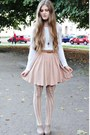 Eggshell-h-m-tights-light-pink-h-m-skirt-ivory-reserved-blouse