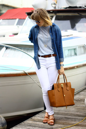 asos jeans - asos shirt - Michael Kors bag - Primark t-shirt - unknown sandals