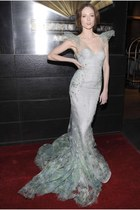 light blue Zac Posen dress