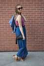 Blue-blue-maxi-skirt-skirt-jean-h-m-jacket-red-tank-red-floral-top