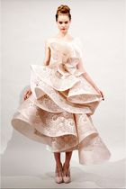 pink marchesa dress - pink marchesa shoes - black marchesa accessories
