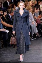 blue Louis Vuitton coat - brown Louis Vuitton purse - gray Louis Vuitton shoes -