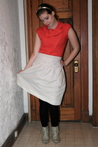 Topshop sweater - Gap skirt - Primark boots