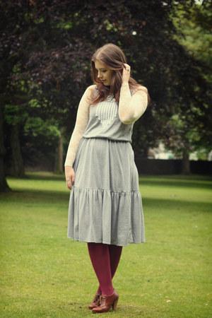 Sugarlips dress - American Apparel tights - lace American Apparel bodysuit