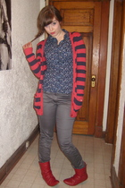 H&M shirt - sweater - H&M pants - boots