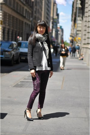 galaxy rag & bone jeans - pheobe IRO jacket - zebra scarf Chan Luu scarf