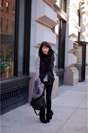 striped shirt Zara shirt - mony boots Isabel Marant boots - jeans J Brand jeans