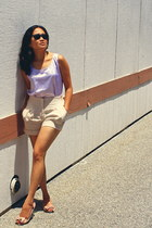 off white high-waisted Urban Outfitters shorts