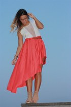 H&M skirt - Zara boots - American Apparel bodysuit