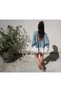Zara-boots-zara-jacket-bershka-shorts-forever-21-necklace-new-look-top