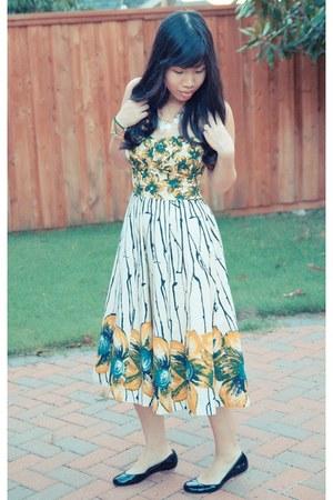 yellow halter Anthropologie dress