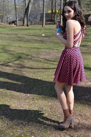 Urban Outfitters dress - H&M socks - Jessica Simpson heels