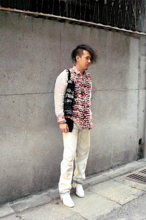 NOZOMI ISHIGURO shirt - martin margiela pants - martin margiela shoes - Comme de