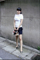 YSL top - undercover shorts - Just In Case accessories - Chanel shoes - Theatre