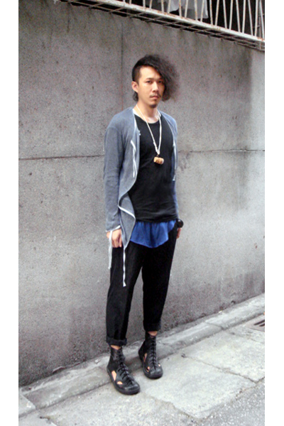Damir Doma t-shirt - Damir Doma jacket - martin margiela necklace - Issey Miyake