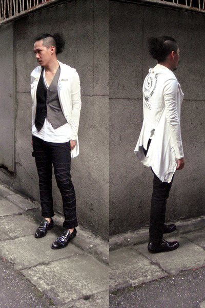 undercover blazer - Just In Case vest - Just In Case pants - Fendi Uomo shoes