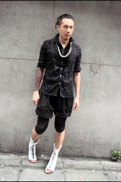 undercover shirt - undercover accessories - vintage shorts - Just In Case shoes