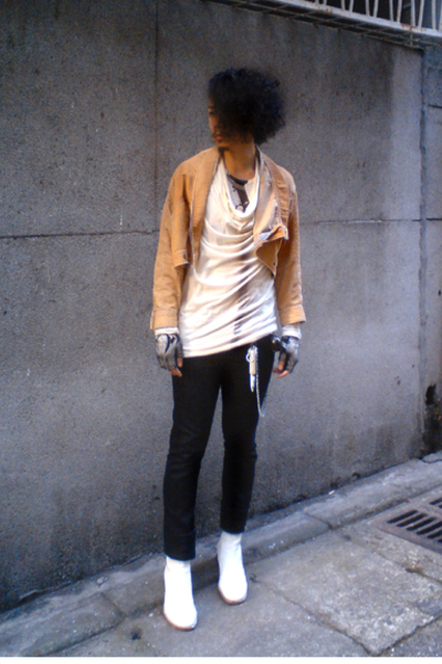 Julius t-shirt - Lee jacket - Uniqlo pants - martin margiela boots - Just In Cas