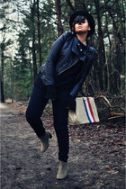 black ohmyfrock jacket - dark khaki Isabel Marant boots - black unknown jeans