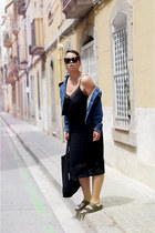 black Forever 21 dress - navy Diesel jacket - black Filippa K bag