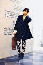 green thrifted vintage coat - black Sacha boots - black Motel Rocks jeans
