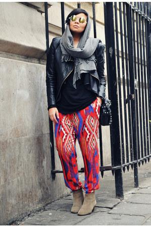 black ohmyfrock jacket - beige Isabel Marant boots - charcoal gray acne scarf
