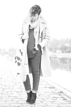 camel vintage coat - blue Cheap Monday jeans - black BB Dakota jacket - mustard