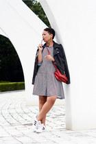 asos jacket - asos dress - Forever 21 bag - Adidas sneakers