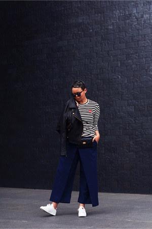 black asos jacket - black Comme des Garcons top - white Sacha sneakers