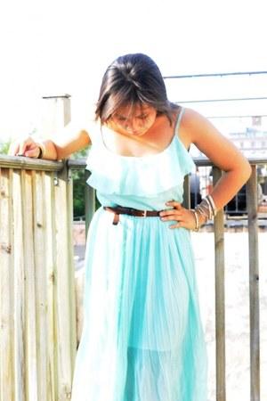 thrifted dress - vintage belt