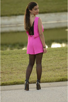 hot pink Topshop romper - DSW shoes