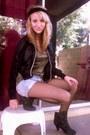 Black-boots-bronze-charlotte-russe-shirt