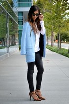 light blue Sheinside coat
