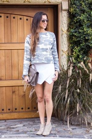 heather gray Sheinside sweatshirt