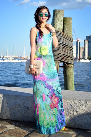 aquamarine luluscom dress