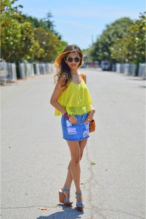 light yellow Wear All top