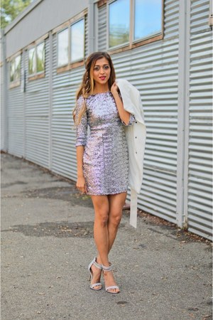 silver alloy dress