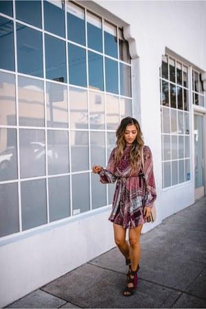 maroon MinkPink dress
